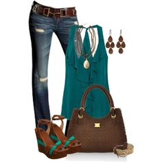 Teal is the name of the game here:) Love the rich jewel tone of the top.