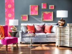 Wallpaper Art Gallery - DIY Wallpaper Projects to Dress Up Your Home on HGTV