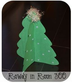 Christmas tree craft with templates!