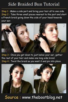 Side Braided Bun | Beauty Tutorials