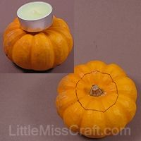 mini pumpkin tealight decoration craft thankgiving halloween fall harvest