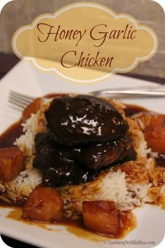 Honey Garlic Chicken - a tried and true recipe perfect for the slow cooker!    http://cookinginstilettos.com/honey-garlic-chicken/  #SlowCooker #chicken #recipe