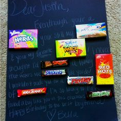 Candy bar birthday poster :)