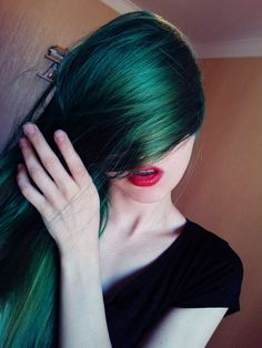green color, colorful hair, color hair