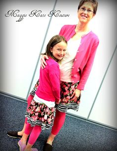 Mommy and Me Matching Floral Zebra Twirl by MaggieKateKouture, $55.00