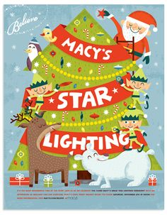 Macy's Holiday campaign by Tad Carpenter