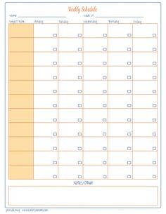 Free Homeschool Weekly Planner {printable}