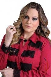 LOJA VIRTUAL PLUS SIZE www.tamanhosespeciais.com.br Camisete Tricoline com Renda strech 48 50 52 54 Plus Size