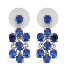 Liquidation Channel: Himalayan Kyanite Earrings in Platinum Overlay Sterling Silver (Nickel Free)