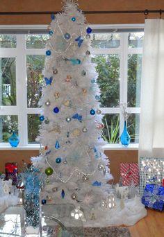 white christmas trees, christma treeswhit, xmas tree, christma decor