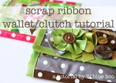 scrap ribbon clutch