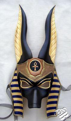 Egyptian Jackal Anubis Leather Mask by B3leatherdesigns on Etsy, $150.00