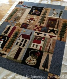 THE QUILTED PINEAPPLE: Pine Tree Ridge Quilt