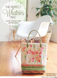 the perfect whatever bag - a free pattern - goinghometoroost.com