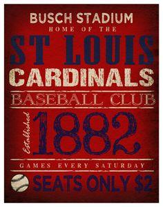 St Louis Cardinals Print -  11x14 - Busch Stadium Poster. $22.00, via Etsy.