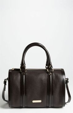 handbag, leather satchel, nordstrom, graini leather, burberry, burberri london, chocol london, london graini, burberri discount