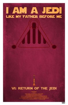 Star Wars - Return of the Jedi - #Retro Movie #Poster #starwars