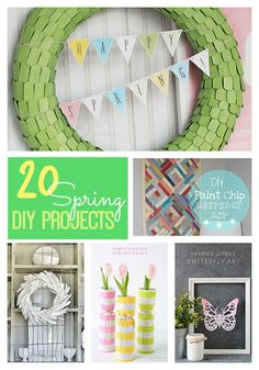 Great Ideas — 20 DIY Spring Projects for YOUR Home!