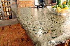 cementglass counter, counter top, concreate countertop, kitchen countertops, dream hous, diy recycled glass countertops, crush glass, concret countertop, concrete countertops
