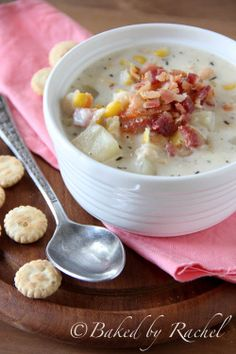 Slow Cooker Corn and Bacon Chowder - bakedbyrachel.com