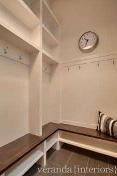 mudroom locker, idea, laundry room storage, benches, home interiors
