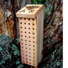 Support your local pollinators! Get a bee box for non-honey bees.