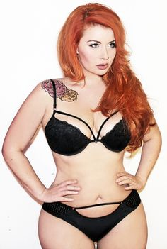 body motivation, red hair, real women, curvy women, goal body, beauti, black lingerie, redhead, plus size lingerie