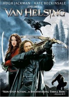 Van Helsing (2004) The notorious monster hunter is sent to Transylvania to stop Count Dracula who is using Dr. Frankenstein's research and a werewolf for some sinister purpose.  #movie