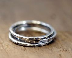 Sterling Silver Stacking Rings by Monkeys Always Look