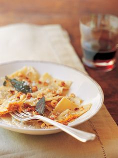 Recipes from The Nest - Pumpkin Ravioli with Sage and Toasted Hazelnuts