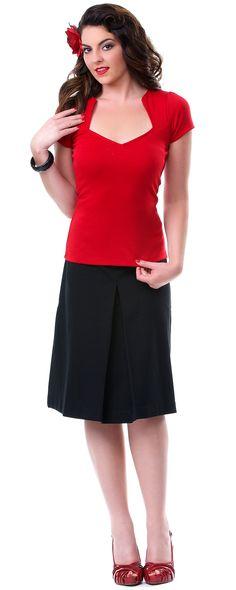 Red Sophia Top - Unique Vintage - Prom dresses, retro dresses, retro swimsuits.