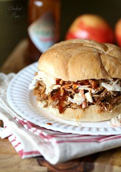 Slow Cooker Chipotle Pulled Pork with Apple Cole Slaw