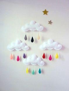 color raindrops room decor