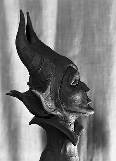 A beautiful sculpt of Maleficent's head by Marc Davis -