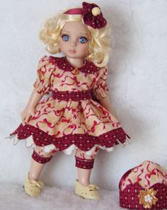 Handmade Dress and Jumpsuit set made for Tonner Patsy Dolls