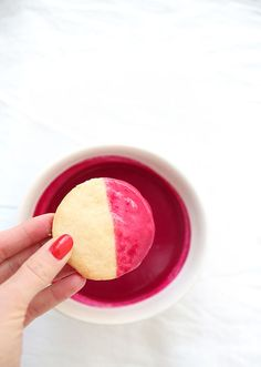 beet glazed cookies//