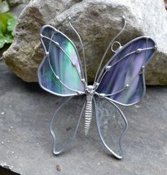 Stormy Weather  Butterfly Stained Glass Suncatcher