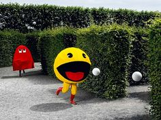 A Little Bit On The Video Games In Real Life Side #PacMan