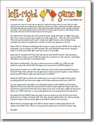 Delicate image throughout free printable left right birthday game
