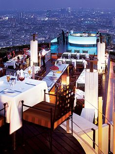 Best view in Bangkok @Matt Valk Chuah Tower Club at lebua is best known for Sirocco, one of the world's highest al fresco restaurant