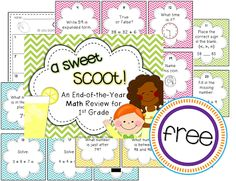 End of First Grade Scoot Review - Freebie!