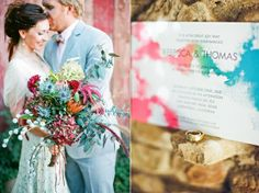 Invites Inspired by Watercolors