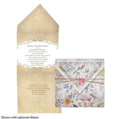 Botanical Tapestry Wedding Invitation by David's Bridal #davidsbridal #invitation #weddings