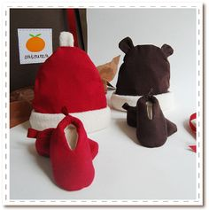 Organic Holiday Gift Sets for Baby. Cute and warm for your little elves. $30