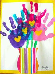 Foot hand print art