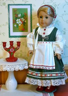 Scandinavian traditional style Christmas dress