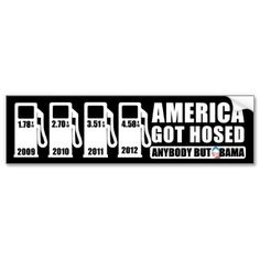 Gas Prices - Anybody but Obama Bumper Stickers