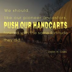 Like the pioneers, keep moving forward. #LDSConf #bestrong