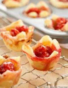 Brie and Cherry Tartlets