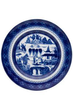Blue canton dishware by Vista alegre